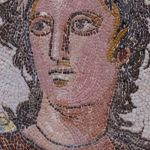 12-The Muse EUTERPE with two tibiae, Roman mosaic, Tarragona, Spain