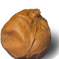 Vessel rattle of pig's bladder