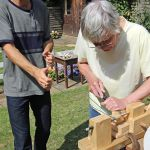 2014-08-14-EMAProject-PeterHolmesStudio-London-PoetovioTibiaReconstructionProject-WorkingonRomanLathe-StefanHagel-PeterHolmes